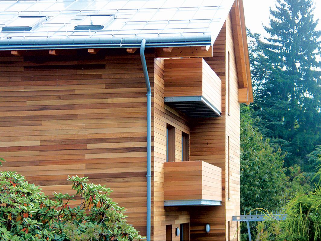 dřevěné fasády